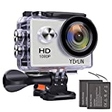 YELIN 1080P Full HD 2.0 inch LCD Screen Waterproof Sports Action Camera Cam DV 5MP DVR Helmet Camera Sports DV Camcorder+Extra 1 Batteries For Sale