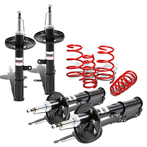 DNA Motoring Toyota Camry XV20 Shock Absorbers (Black)+Lowering Spring - Toyota Shocks Coilover