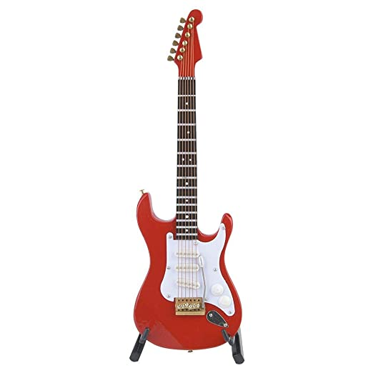 Guitarra eléctrica de madera delicada de 18 cm para decoración del ...