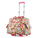 Best OLYMPIA Bags - Olympia Deluxe Fashion Rolling Overnighter, Tulip, One Size Review