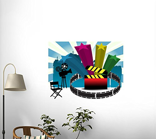 Wallmonkeys Cinema Design Peel and Stick Wall Decals WM104785 (48 in W x 44 in H)
