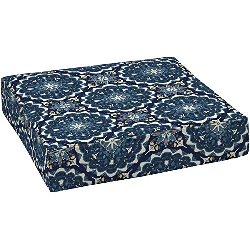 Better Homes and Gardens Outdoor Patio Deep Seat Bottom Cushion (2, Navy Medallion) (Deep Seat Patio Cushions Clearance)