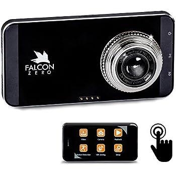 Falcon Zero Touch PRO HD Dash Cam [TOUCH SCREEN] 1080p 24/7 Surveillance, Multi Vehicle Use, 32 GB SD Card Included