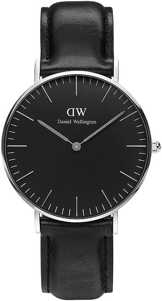Daniel Wellington Reloj analogico para Mujer de Cuarzo con Correa en Piel DW00100145