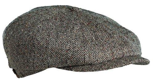 Stetson Men's Hatteras Silk Cap,Brown,L