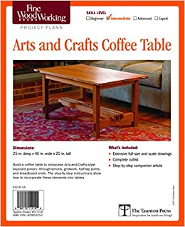 Fine Woodworking S Arts And Crafts Coffee Table Plan Editors Of