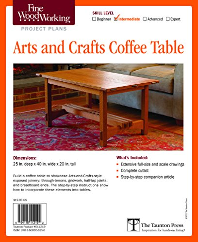 Fine Woodworking's Arts and Crafts Coffee Table Plan