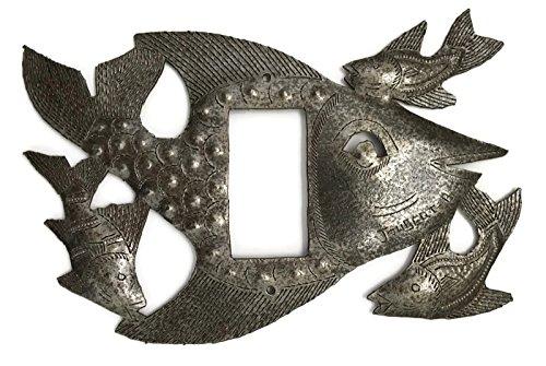 Metal Light Covers, Swimming, Fish, Haiti, Handmade From Recycle Oil Drum (Rocker)