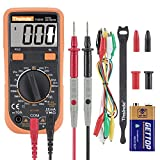 Digital Multimeter,ZhenChenggao 2000 Counts Manual-Ranging Multimeter Tester with Diodes Buzzer ON/OFF,Square wave output,Date Hold,Measuring AC DC voltage,AC DC current,resistance and LCD Backlight