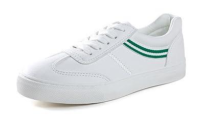 1367da15d11df Easemax Damen Basic Low Top Rund Zehe Flach Rutschfest Sneakers mit ...
