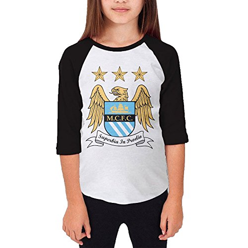 101dog Manchester City Football Club 1 Unisex Youth Casual 3/4 Raglan Jersey L (Colt Mascot Costume)