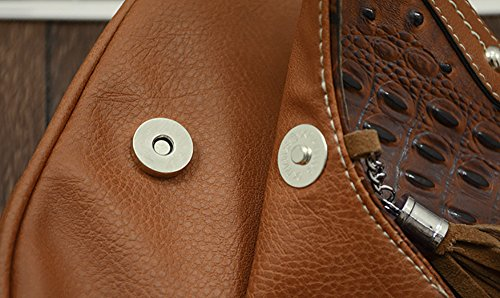 Brown bag Women's Tassels Bag PU Crossbody Flap QZUnique 2 Hobo Shoulder Saddle Medium fwPnqx