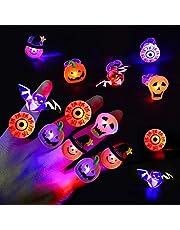 50 stks Halloween LED-vingerlicht, LED-flitsringen voor kinderen en volwassenen Feestdecoraties, Glow in The Dark Halloween-feestartikelen Niet-snoep Halloween-traktaties Goodiebag-vullers