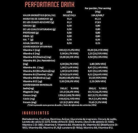 MAHALO PERFORMANCE DRINK 450 g. Bebida deportiva Isotónica ...