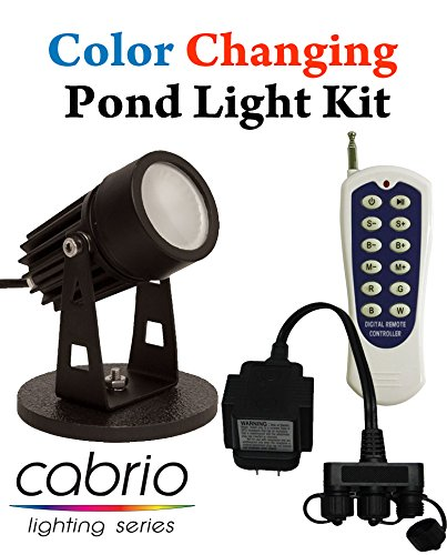 EasyPro Color Changing LED Pond Light Complete Kit Includes Remote and Transformer