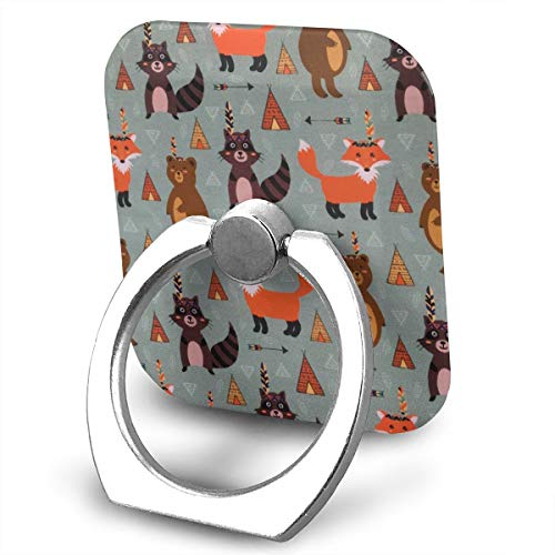 Cell Phone Holder Stand Fox and Bear 360 Degrees Rotation Universal Finger Grip for All -