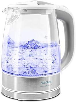 Cecotec Hervidor de Agua Eléctrico ThermoSense 350 Clear. 1,7 litros, Libre de BPA, 2200 W de Po...