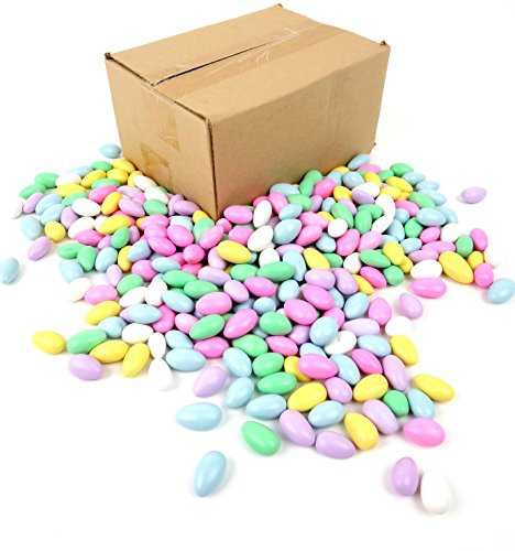 Jordan Almonds - Candy Coated - Assorted, 5 lbs Frustration Free Packaging ()
