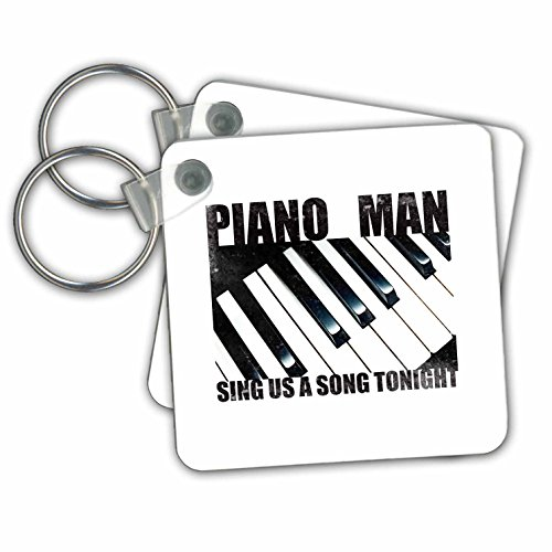 (Kultjers Hint of Music - Piano Man - Key Chains - set of 2 Key Chains (kc_280152_1))
