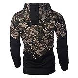 Amlaiworld Men Camouflage Zipper Jacket Autumn
