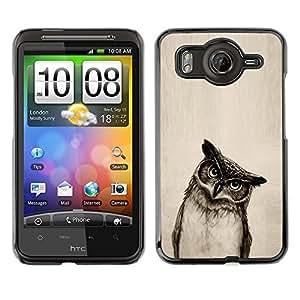 - BLACK WHITE OWL BIRD PENCIL ART DRAWING - - Monedero pared Design Premium cuero del tir???¡¯???€????€?????n magn???¡¯&