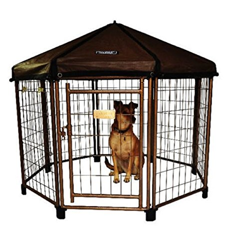 NEW! Outdoor Dog Gazebo Shelter Kennel Pet Enclosure Shade Cover Crate House Cage