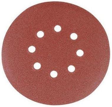 Silverline 196571 Discos de Lija Perforados Autoadherentes Caja de 10 Grano 60 150 mm Di/ámetro