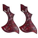 Kmise Z4805H2 2 Piece Gibson/Epiphone Hummingbird Acoustic Guitar Pickguard Adhesive PVC