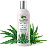 Amazing Aloe Vera Facial Cleanser for Women – Natural and Organic Ingredients – Use before Moisturizer to Cleanse, Soothe and Purify – Your Anti-Aging Face Wash from Green Leaf Naturals – 8 oz For Sale