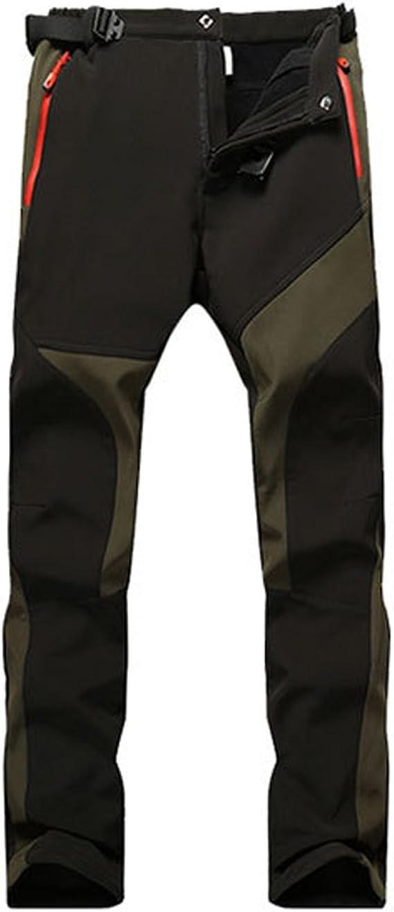 SUKUTU Pantalones de Senderismo de vellón Impermeables para Mujer Pantalones de Escalada al Aire Libre de caparazón Suave al Aire Libre