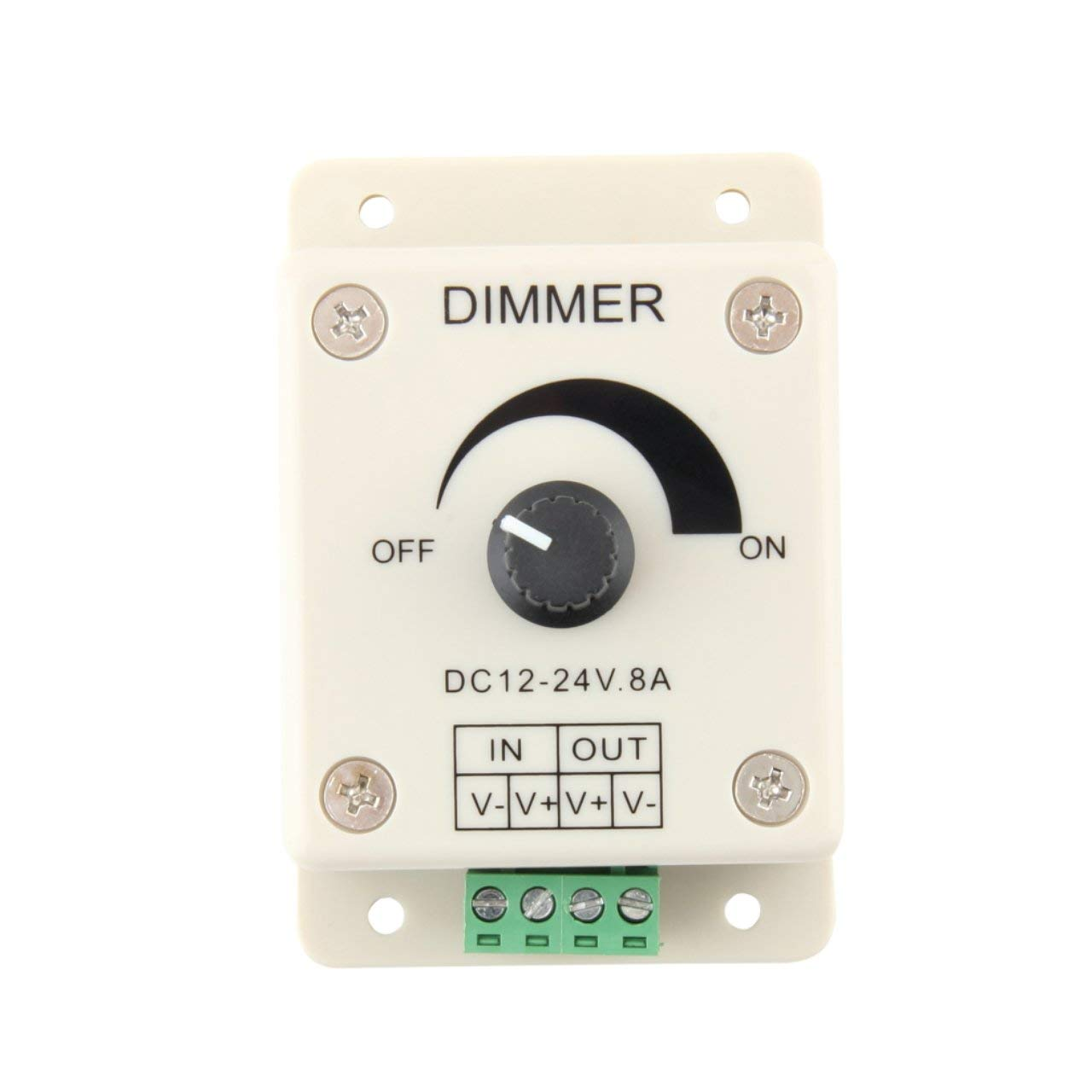 12V 8A LED Light Protect Strip Dimmer Adjustable Brightness Controller For LED Strip Light Lamp Accessories