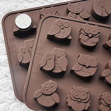 12 Eulen Silikon Kuchen Dekorieren Sussigkeiten Kekse Schokolade