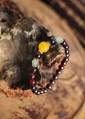 Original Topaz cord Pearl color Garnet bracelets bracelets high quality multi-element trend jewelry