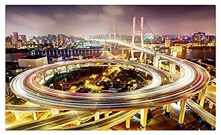 Puentes China Shanghai noche calle Megapolis NANPU puente ciudades ...