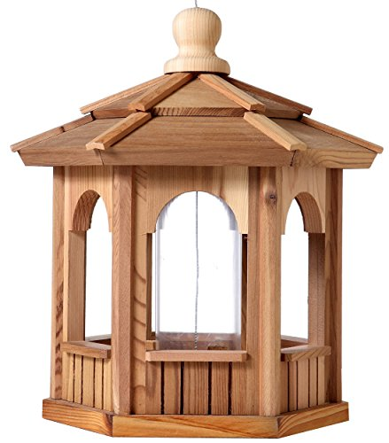 Cedar Birdfeeder Gazebo - hexagon - 12