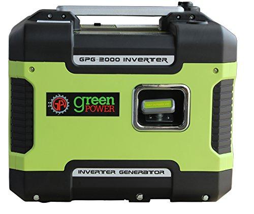 Green-Power America GPG2000i 2000W Inverter Generator, Green/Black Green-Power America