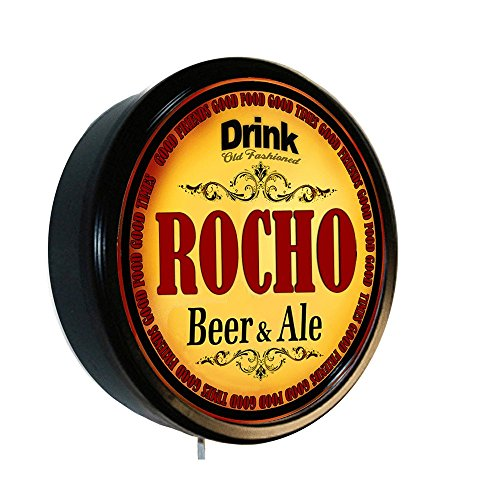 ROCHO Beer and Ale Cerveza Lighted Wall Sign from Goldenoldiesclocks