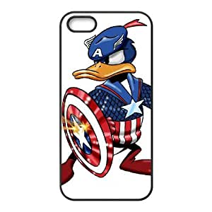 Donald Duck iPhone5s Cell Phone Case Black DIY Ornaments xxy002-3722374