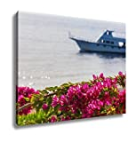 Ashley Canvas Pink Bougainvillea Sharm El Sheikh Egypt Wall Art Decor Stretched Gallery Wrap Giclee Print Ready to Hang Kitchen living room home office, 24x30