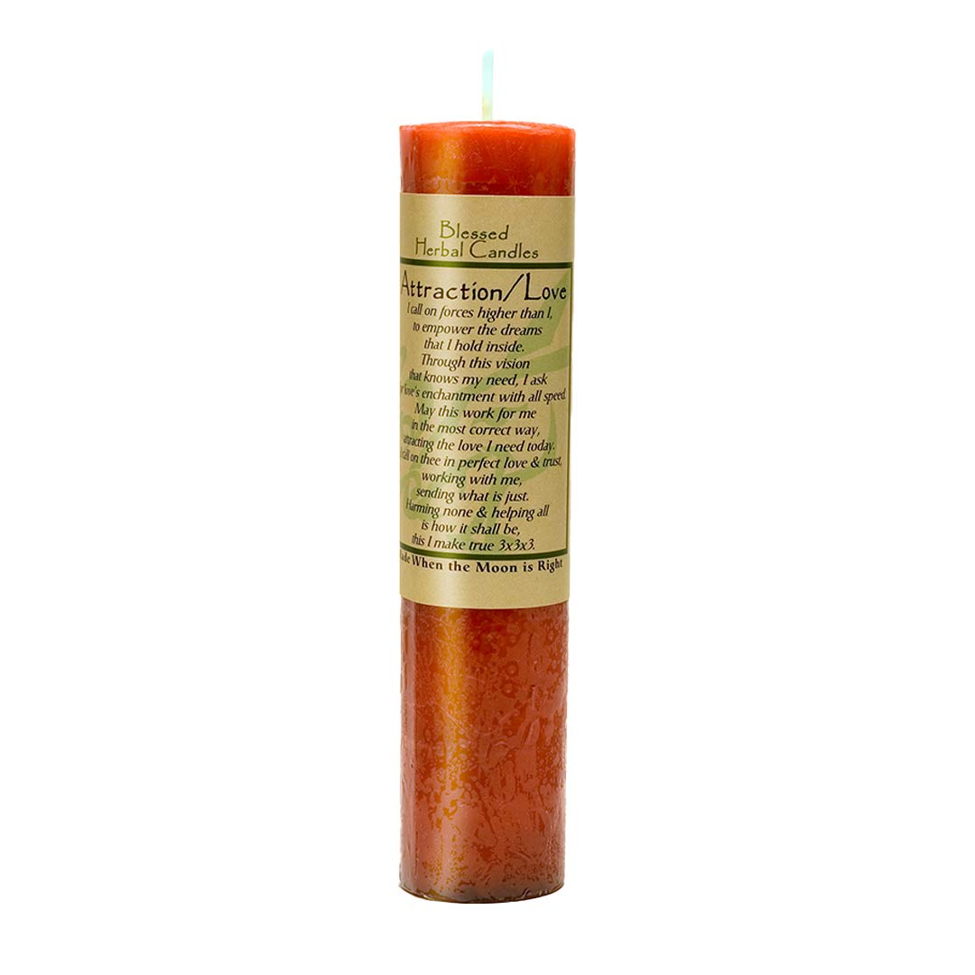 Blessed Herbal Attraction / Love Candle