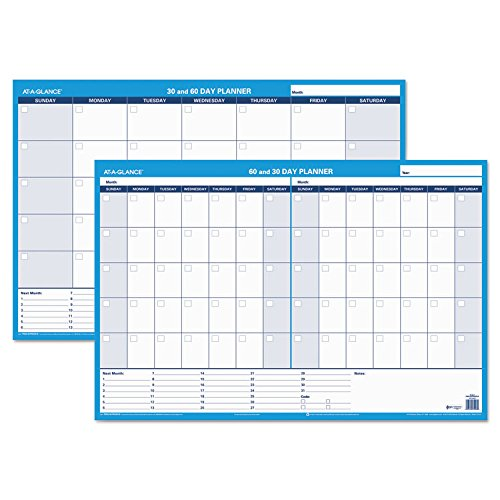 Day Erasable - AAGPM23328 - At-a-Glance Recycled 30/60-Day Undated Horizontal Erasable Wall Planner