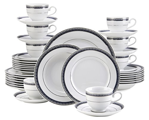 - Mikasa 5224200 Platinum Crown Cobalt 40-Piece Dinnerware Set, Service for 8