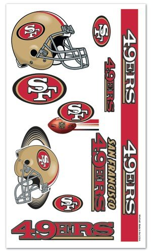 San Francisco 49ers NFL Temporary Tattoos (10 - Mall Outlet San Francisco