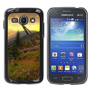LECELL--Funda protectora / Cubierta / Piel For Samsung Galaxy Ace 3 -- Americana Montaña Forrest --