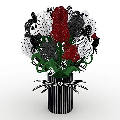 Lovepop Disney Tim Burton's The Nightmare Before Christmas Seriously Spooky Bouquet – 3D Flowers, Halloween Cards, Pop…