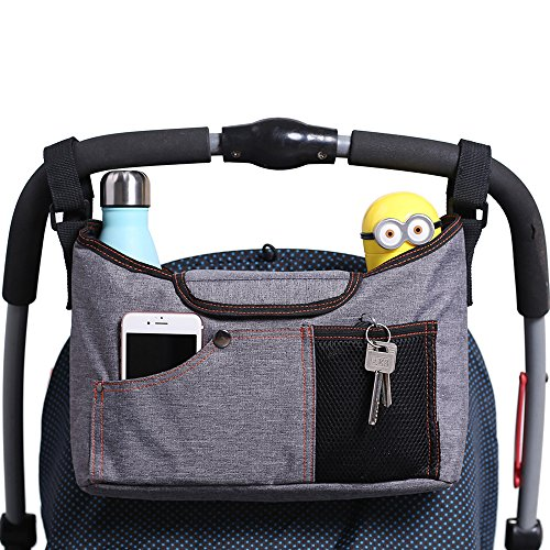 Best Prices! AMZNEVO Best Universal Baby Jogger Stroller Organizer Bag / Diaper Bag with Cup Holders...