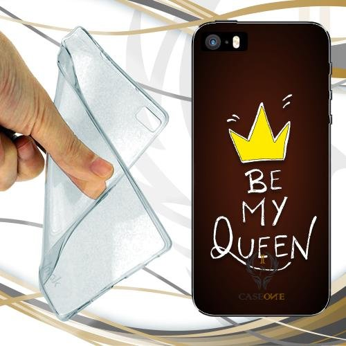 CUSTODIA COVER CASE CASEONE BE MY QUEEN PER IPHONE SE