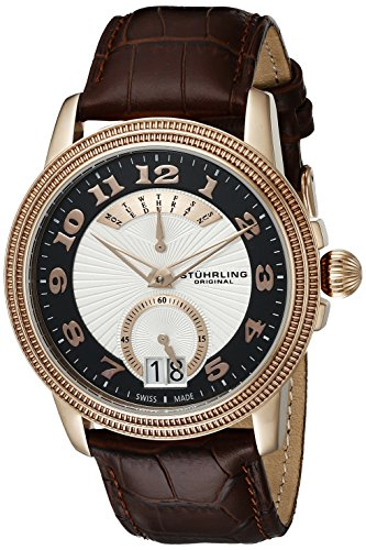 Stuhrling Original Men s 788.03 Symphony Analog Display Swiss Quartz Brown  Watch 6a8d2f90d84