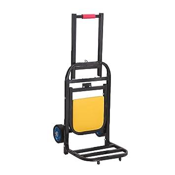AICN_Carretillas de mano Carro de mano portátil puede sentarse carrito de equipaje Kola Tire de la