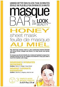 Masque Bar Honey Face Sheet Mask - 3ct, 0.23 Pound